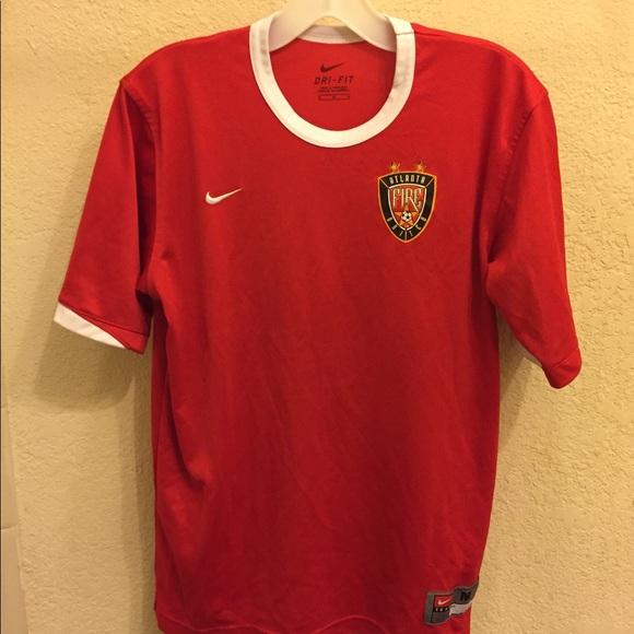 huge selection of 47aab 9b108 Nike Dri Fit Atlanta United Fire MLS Soccer Jersey